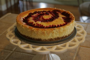 plum-cheesecake