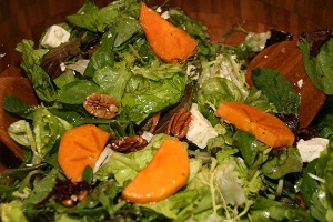 CookingwithMelody.com/Persimmon Salad