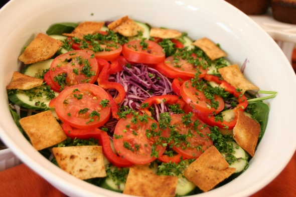 CookingwithMelody.com/Fattoush Salad
