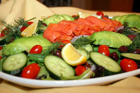 Cooking With Melody » Smoked Salmon Salad with Dill Caper Dressing