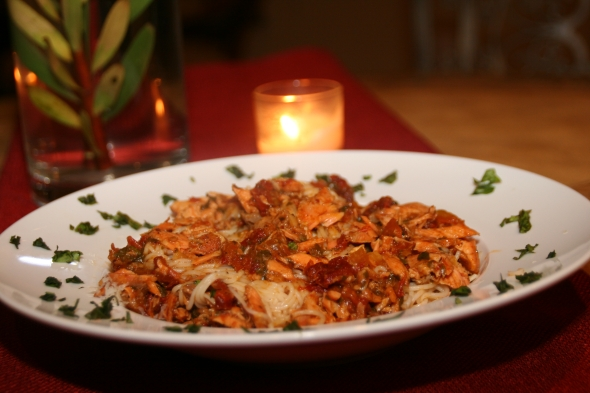 CookingwithMelody.com_Salmon Angel Hair Pasta