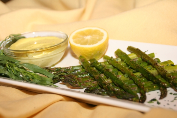 Asparagus with Lemon Tarragon Aioli
